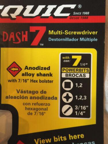 Multi Bit with 7 Hex Powerbits White PICQUIC DASH 7 Screwdriver