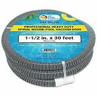 """1-1/2"""" X 30 Foot Professional Heavy Duty Spiral Wound Swimming Pool Vacuum Hose"""