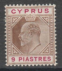 CYPRUS 1904 KEVII 9PI WMK MULT CROWN CA