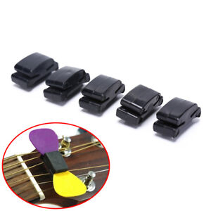 5pcs-Black-Rubber-Guitar-Pick-Holder-Fix-on-Headstock-for-Guitar-Bass-Ukule-RS