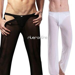 Neu-Maenner-Herren-Lange-Hose-Netz-Transparent-Borat-Sexy-Jogginghose-Pump-Pants