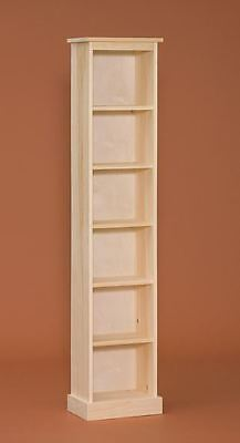 AMISH Unfinished Pine ~ Chimney Storage Shelf Bookcase COUNTRY RUSTIC CABINET