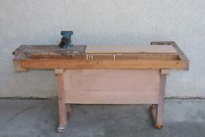 Werkbank Holz mit Schraubstock 1.Hälfte 20.Jhd (MVL071) | eBay