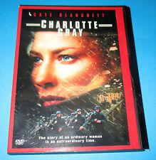 Charlotte Gray  DVD, 2002- Cate Blanchett, Disc LIKE NEW, World War II,  Drama