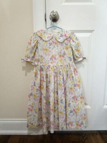 Vintage 1990s Laura Ashley Dress Girls Size 5 - W… - image 1