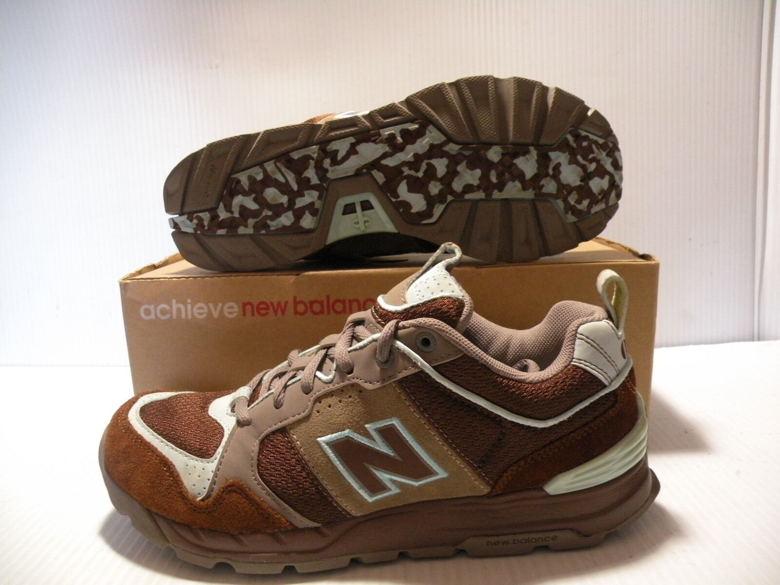 NEW BALANCE 016  IDENTITY SNEAKERS WOMEN SHOES BROWN/BLUE W016BTC SIZE 8.5 NEW