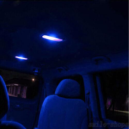 For Hyundai Genesis Coupe 10-15 Blue Interior LED Light Kit White License Light