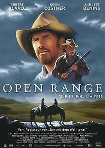 Open-Range-Weites-Land-Einzel-DVD-von-Kevin-Costner-DVD-Zustand-gut