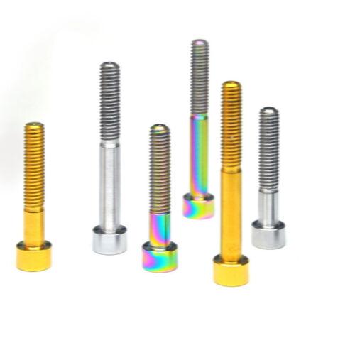 M10x25mm//30mm//35mm//40mm//65mm//70mm Pitch 1.5mm Column Head GR5 Titanium Bolts