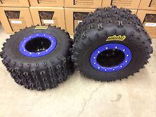Hiper CF1 Beadlock Rims ITP Holeshot MXR6 Tires Rear MX Yamaha Raptor 700 660