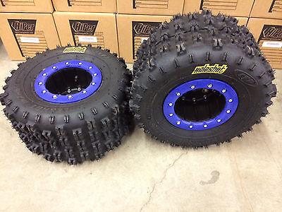 Hiper CF1 Beadlock Rims ITP Holeshot MXR6 Tires Rear MX Yamaha Raptor 250 125