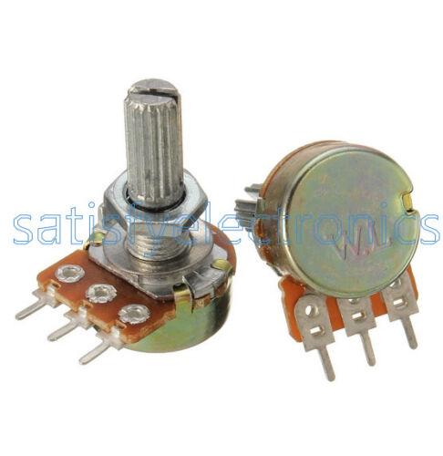 10 pcs 5K ohm Linear Taper Rotary Potentiometer Panel pot B5K 20mm