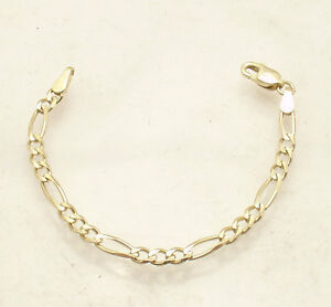 3mm Solid Figaro Chain Necklace Bracelet Extender Extension Real 14k Yellow Gold Ebay