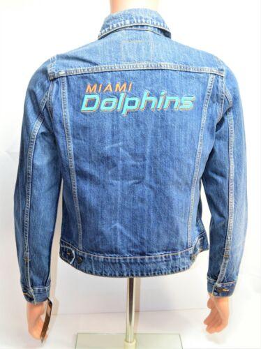 Ny Nfl Sz Miami Denim Dolphins Kvinders Levis L 285400019 Large Trucker Jakke qfwv44R