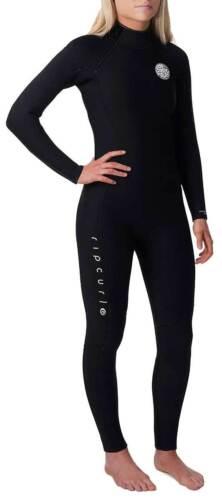 Rip Curl Women/'s Dawn Patrol 4//3mm Back Zip Full Wetsuit Black New