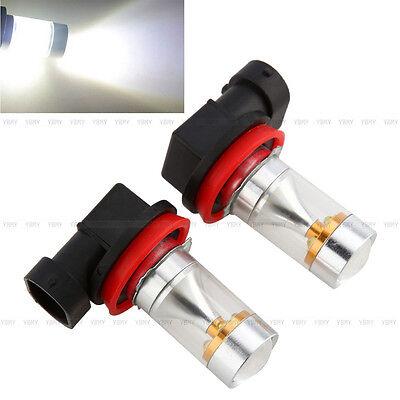 2x H8 H9 H11 30W Xenon Weiß LED Nebelscheinwerfer Tagfahrlicht Birne Auto Licht
