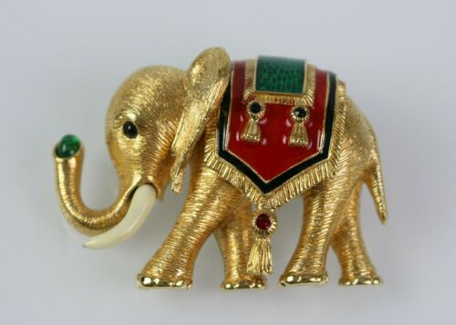 Rare Vintage CINER Elephant of India Pin Brooch