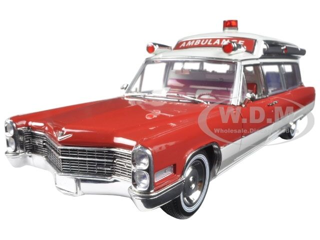 1966 CADILLAC AMBULANCE rojo blancoo PRECISION COLLECTION 1 18 BY verdeLIGHT 18003
