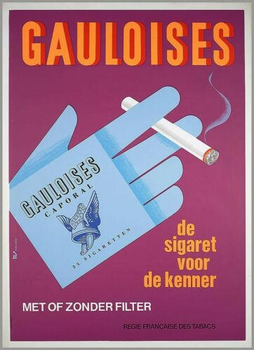 US Seller bedroom design ideas 1950-75 Gauloises  cigar ads poster