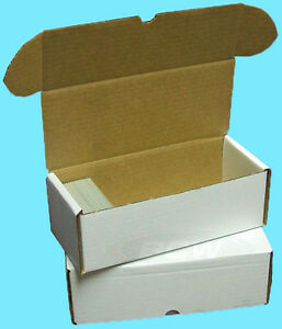 5-BCW-500-COUNT-CARDBOARD-STORAGE-BOXES-Trading-Sports-Card-Holder-Case-Football