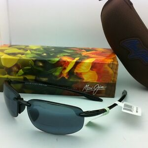 aa76abe60d6 New! MAUI JIM Sunglasses HO'OKIPA READER +2.5 G 807-0225 Black Frame ...