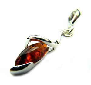 Lovely-925-Sterling-Silver-amp-Baltic-Amber-Designer-Pendant-M302
