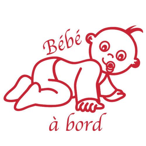 Sticker Décoration Voiture Bébé à bord 15x20 cm à 30x39 cm Bébé à 4 pattes