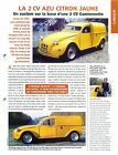 Citroën 2 CV AZU Citron Jaune Custom Base Camionnette 1998 Car Auto FICHE FRANCE