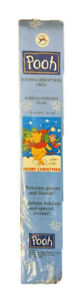 """WINNIE THE POOH CARRYING CHRISTMAS TREE~PIGLET MERRY CHRISTMAS FLAG ~28"""" x 40"""""""