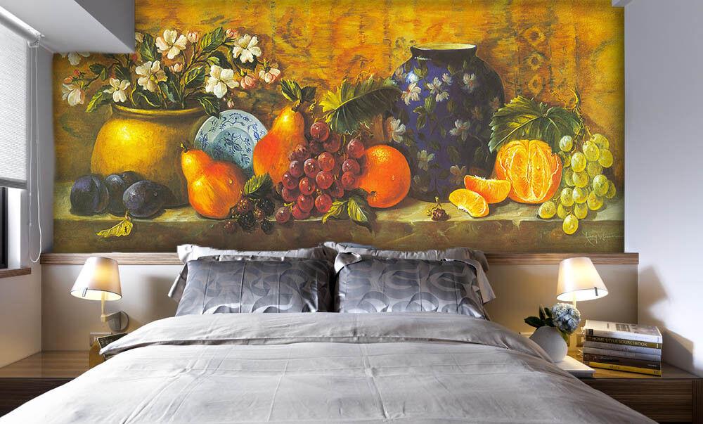 3D Fruit Paint 431 Wallpaper Murals Wall Print Wallpaper Mural AJ WALL UK Jenny