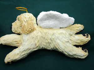 image is loading goldendoodle labradoodle doodle dog handmade figurine christmas ornament