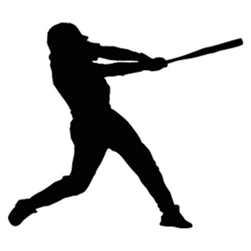 Baseball Player Car Window Door Windscreen Bumper Van Laptop Vinyl Decal Sticker