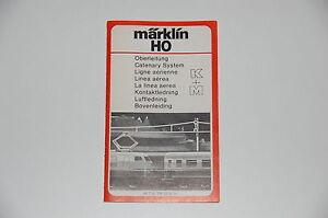 Marklin-H0-Original-Description-for-Overhead-Wires-Red-Top-Condition