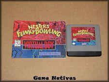 Nester's Funky Bowling w/Cover/Manual - Nintendo Virtual Boy - FREE SHIPPING!