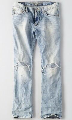 NWT American Eagle Outfitters Men Destroyed Original Bootcut Jeans - 36 X 32