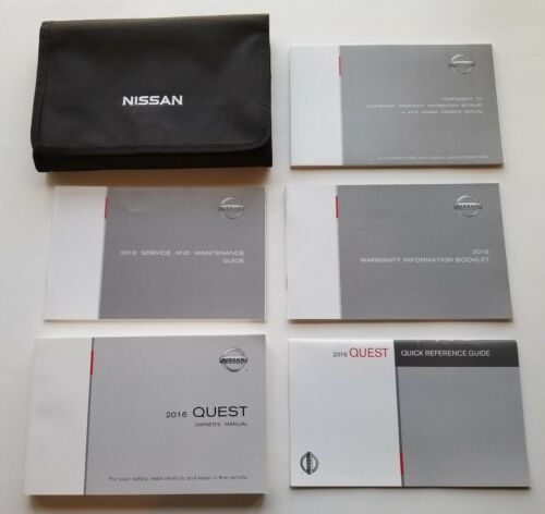 OEM 2016 Nissan Quest Owners Manual Books with Storage Case Free Shipping
