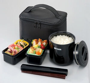 new tiger thermos lunch box japan bento jar keep warm black lwy e046 k ebay. Black Bedroom Furniture Sets. Home Design Ideas