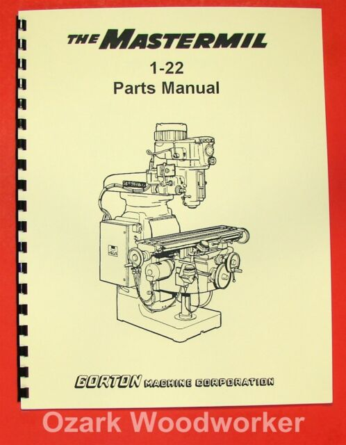Gorton 1 22 Mastermil Milling Machine Parts Manual 0322 Ebay