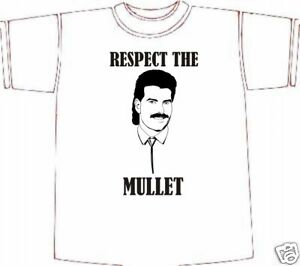 Respect The MULLET T-shirt ** Great Print ** LARGE Birthday Gift Idea