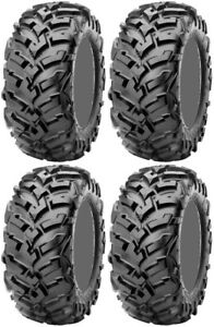 Four-4-Maxxis-Vipr-ATV-Tires-Set-2-Front-27x9-14-amp-2-Rear-27x11-14