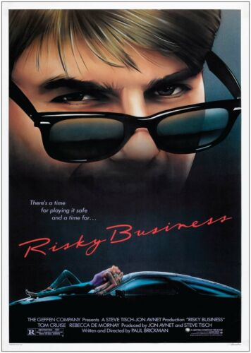 Risky Business Vintage Classic Movie Poster Art Print A0 A1 A2 A3 A4 Maxi