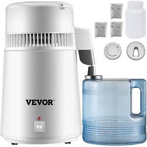 VEVOR 4L Water Distiller Purifier Machine Countertop Stainless Steel Interior CE