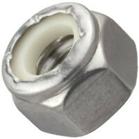 Stainless Steel Nylon Insert Lock Nuts: 1/4-28 (100ea)