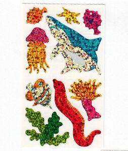 ~ Sparkle Scuba Diver Hammerhead Shark Fish Hambly Studios Glitter Stickers ~