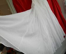NWT Vintage HIPPIE COWGIRL Western Prairie FULL SKIRT Beautiful Pure WHITE Dance