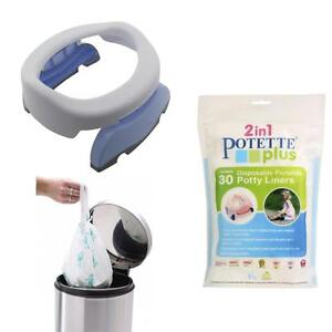 POTETTE Plus Baby Travel Potty Disposable Liners 60 Pack