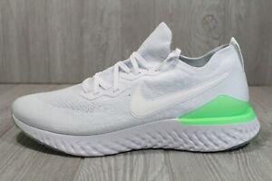 58 Nike Epic React Flyknit 2 Mens Sz 14 White Lime Running Shoes BQ8928-100