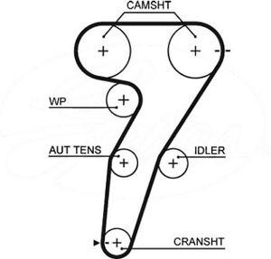 Dayco 131Al0070 Engine Timing Belt Camshaft Replacement Alfa Romeo 147 01-10