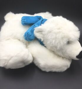 Polar-Bear-Snowy-Soft-Toy-with-Blue-Scarf-White-BHS-Valentines-Gift