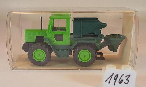 Wiking 1//87 nº 16 385 Mercedes Benz MB Trac 700 verde con construcción en OVP #1963